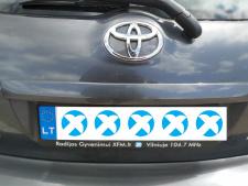 Automobilių numerių rėmeliai VILNIUS