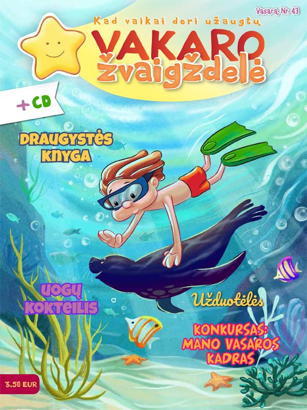 Vakaro žvaigždelė. Žurnalas vaikams 2019 vasara Nr. 43 + CD