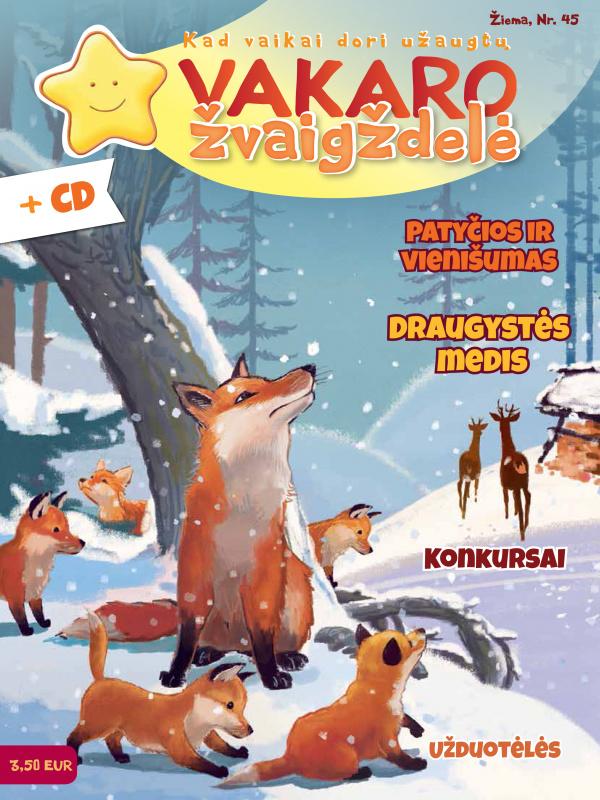 Vakaro žvaigždelė. Žurnalas vaikams 2019 žiema Nr. 45 + CD