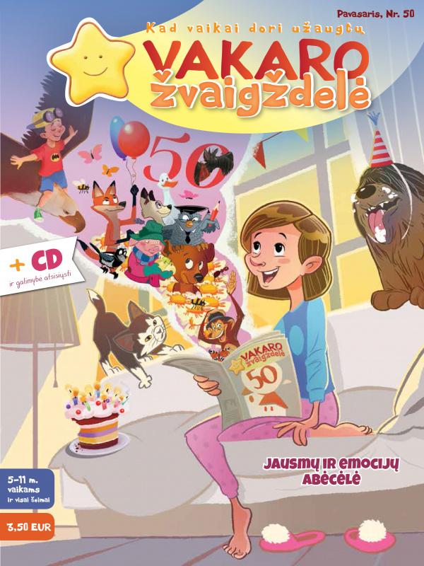 Vakaro žvaigždelė. Žurnalas vaikams 2021 pavasaris Nr. 50 + CD