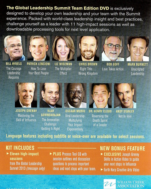 2013 m. Pasaulinės lyderystės konferencijos DVD