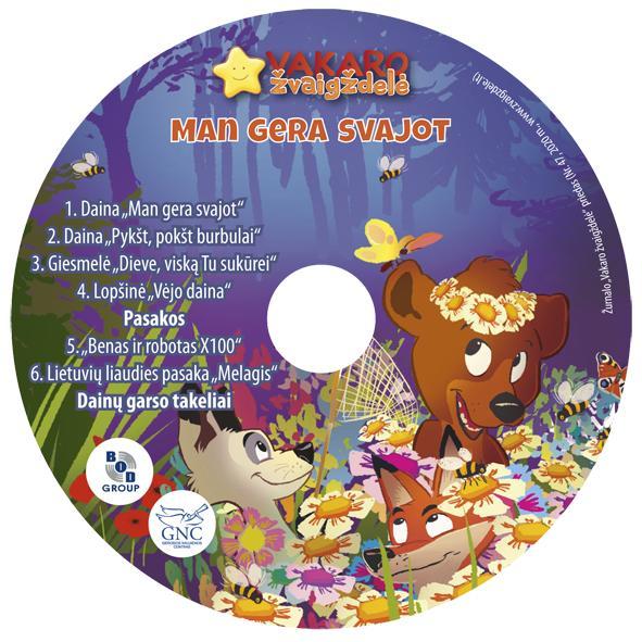 Vakaro žvaigždelė. Žurnalas vaikams 2020 vasara Nr. 47 + CD