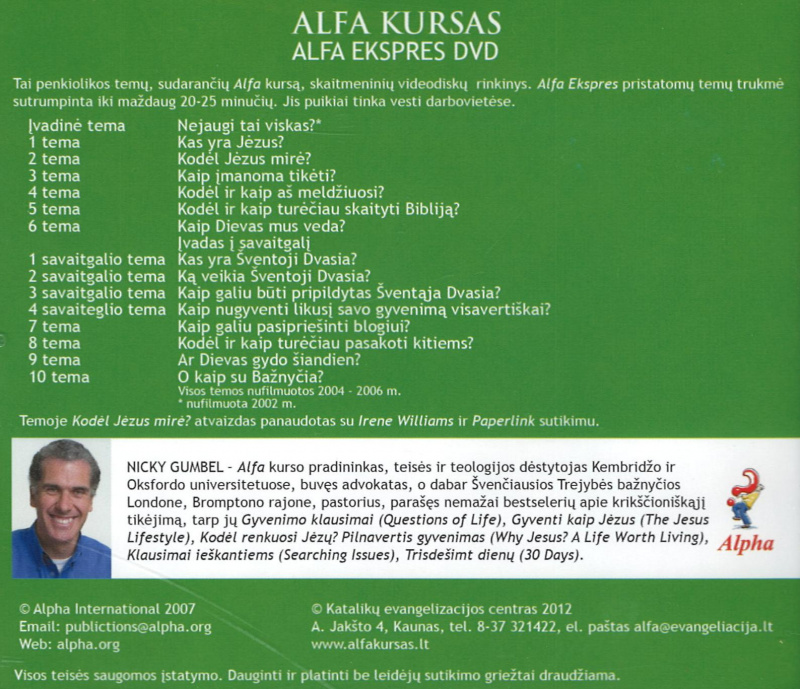 "ALFA kursas ""Alfa ekspres"" DVD"