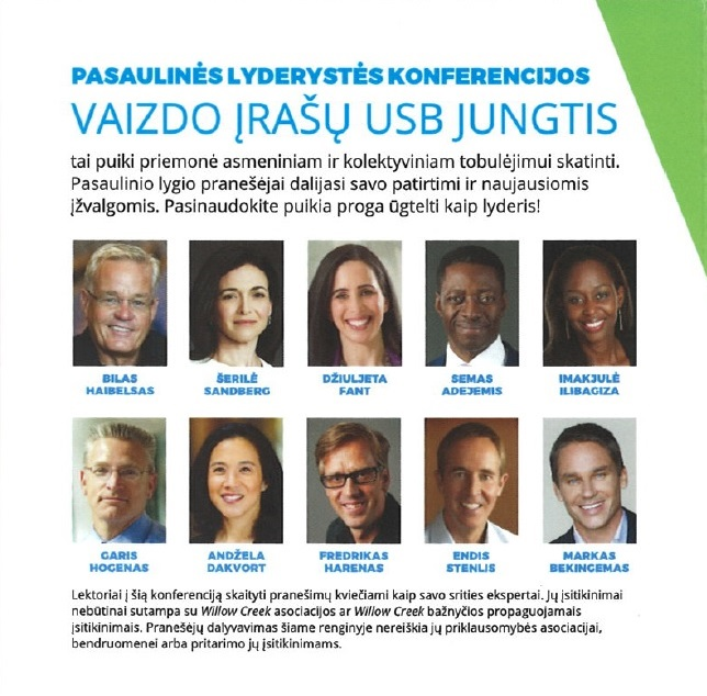 2017 m. Pasaulinės lyderystės konferencijos vaizdo įrašų USB jungtis